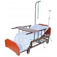 Кровать механическая Е-45A с боковым переворачиванием, туалетным устройством и функцией «кардиокресло»